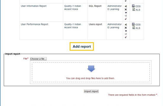 Add and Import Report