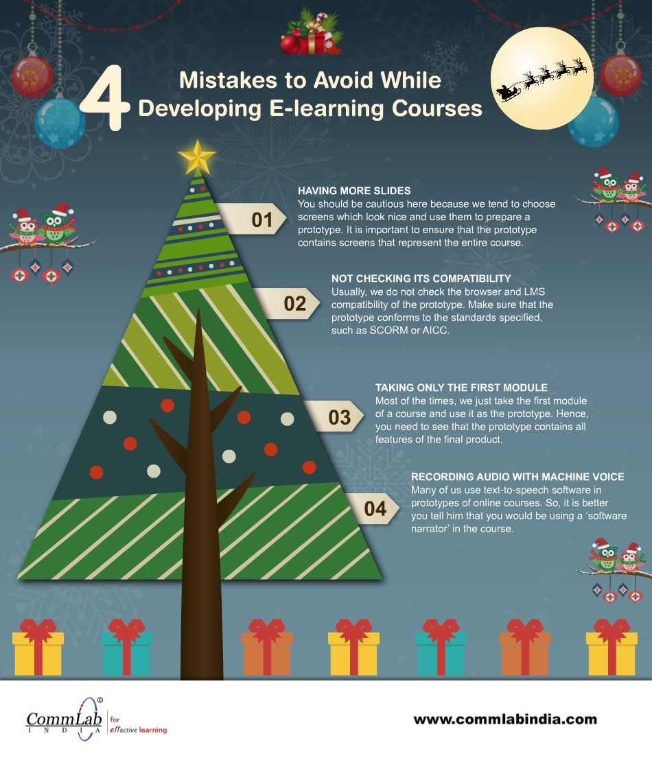 4 Mistakes to Avoid while Developing E-learning Course Prototypes – An Infographic