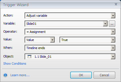 Adjust variable