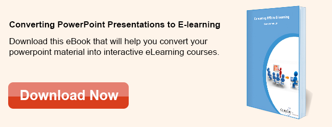 View eBook on Converting PowerPoint Presentation to E-learning