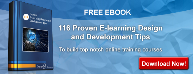 View E-book on 116 Proven E-learning Design and Development Tips