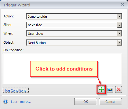 Add Conditions Button