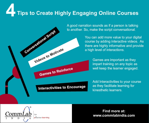 4 Tips to Create Highly Engaging Online Courses – An Infographic