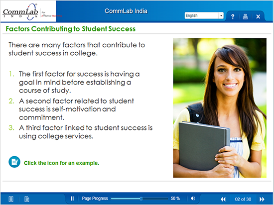 Factors contributing to student success