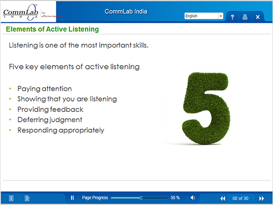 Eleaments of Active listening