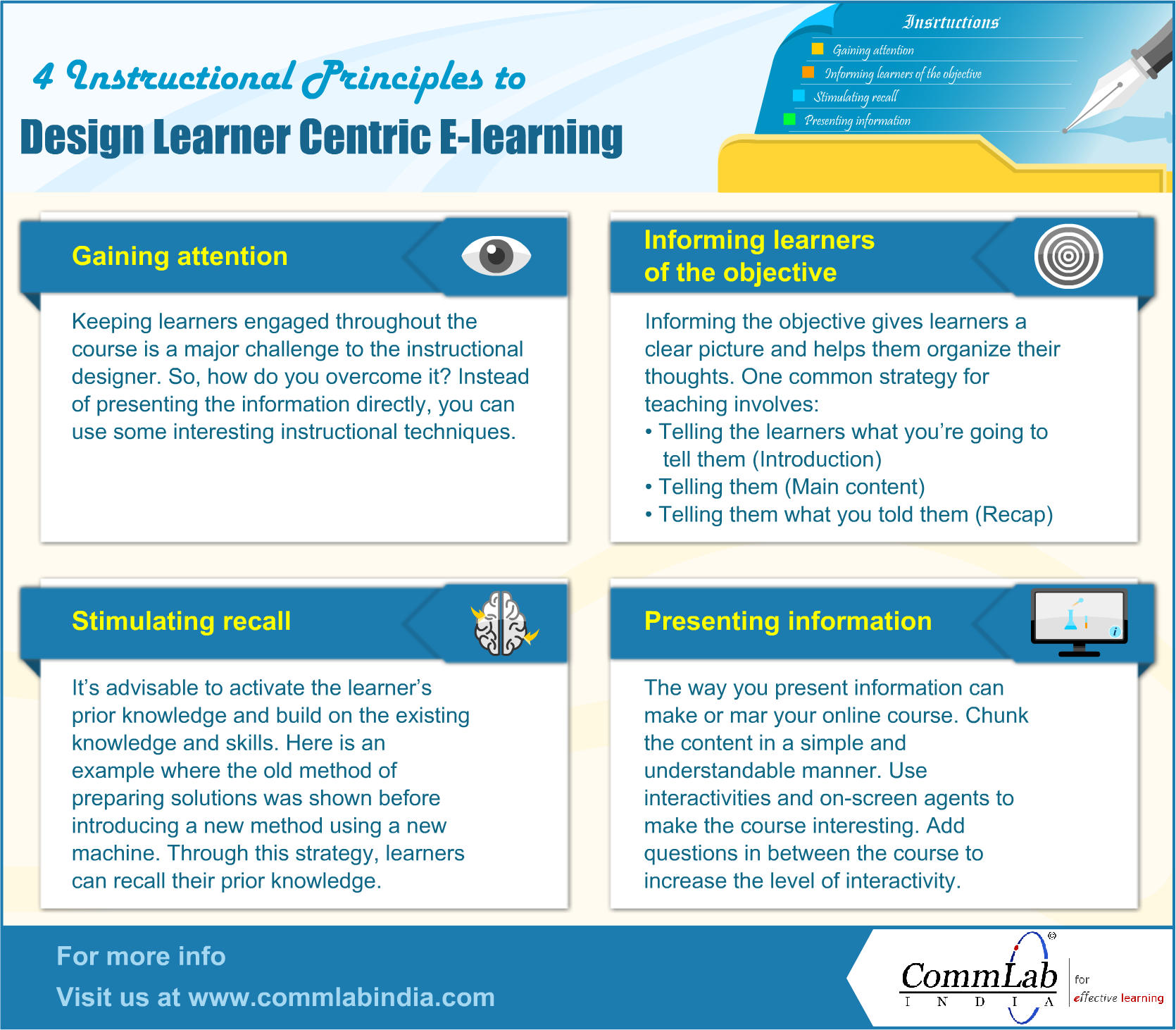 4 Principles to Design Learner Centric E-Learning Courses – An Infographic