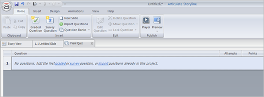 import the existing questions