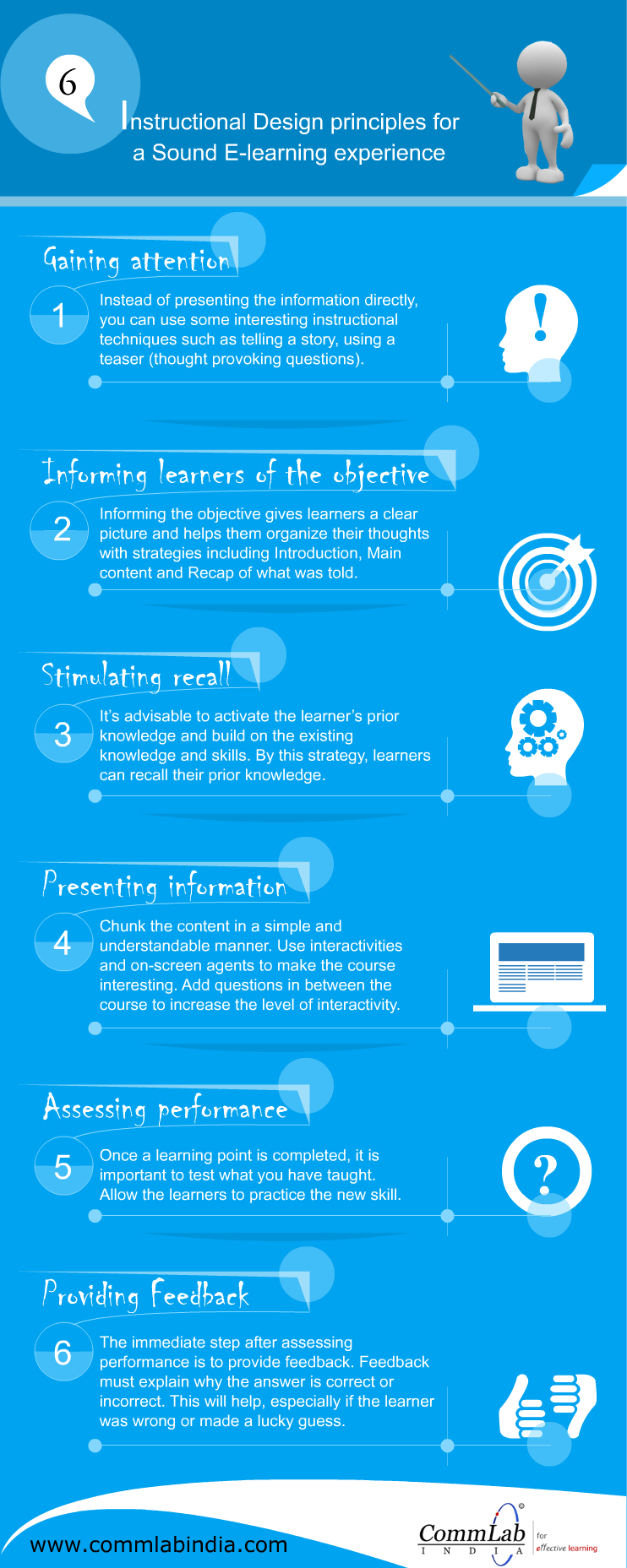 6 Instructional Design Principles For a Sound Learning Experience - An Infographic