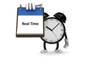 delivering information in real time