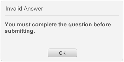 Invalid Answer
