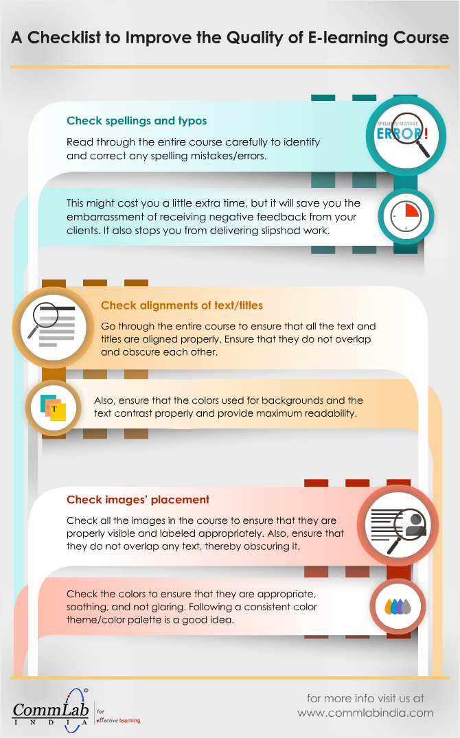 3 Tips to Improve the Quality of an E-learning Course - An Infographic