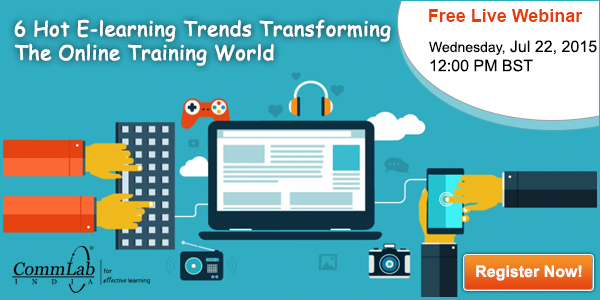 Register for Free Webinar on 6 Hot E-learning Trends Transforming The Online Training World