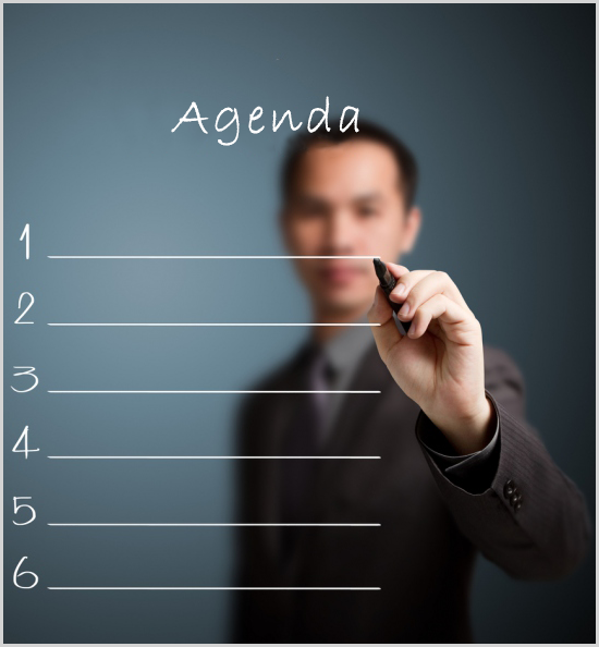 Make an agenda before having a call