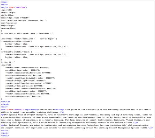 HTML-Page setup