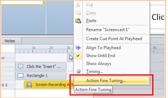 Action Fine Tuning