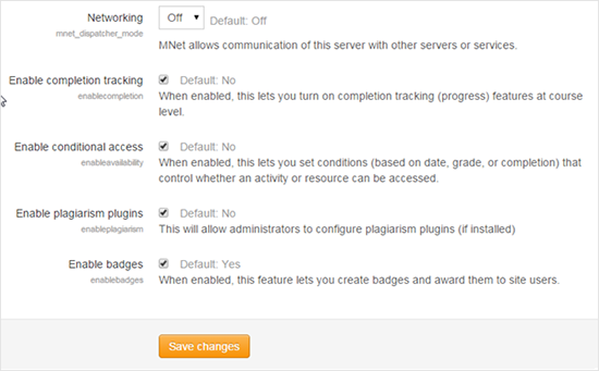 Enable Completion Tracking option
