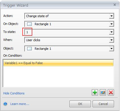 Change state trigger for button2