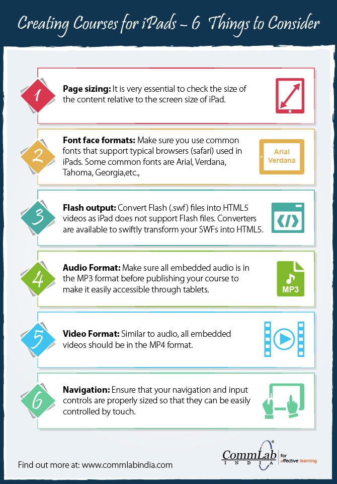 E-learning Courses for the iPad – 6 Aspects to Consider [Infographic]