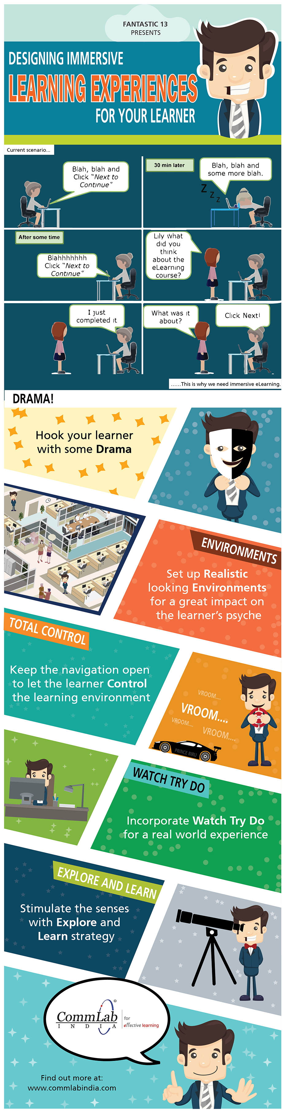 E-learning Design - Tips to Create Immersive Learning Experiences [Infographic]