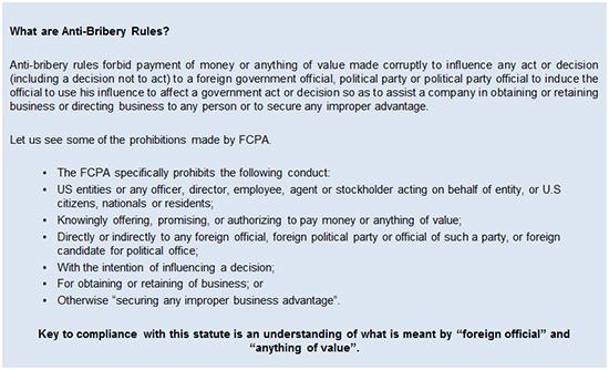 Anti-bribery Rules