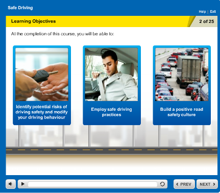 Learning Objectives screen