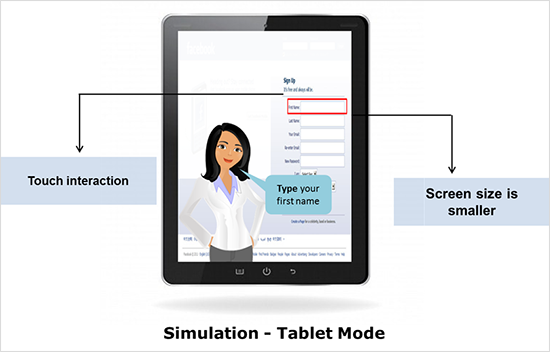 Simulations - Tablet mode