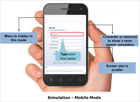 Simulations - Mobile Mode