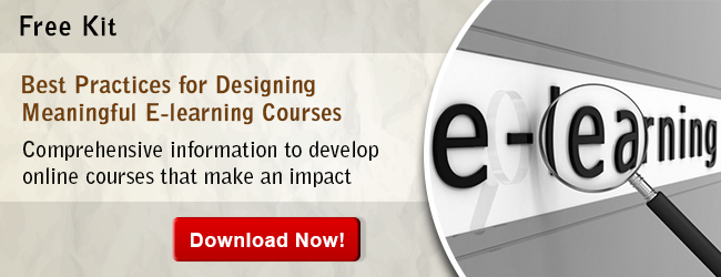 View Kit on Best Practices for Designing Meaningful E-learning Courses