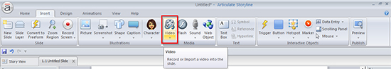 Click on video tab