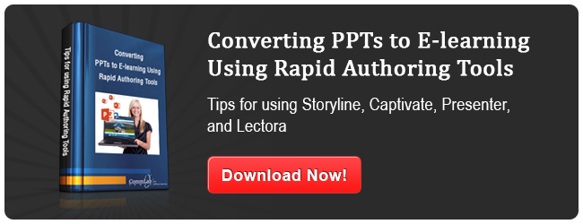 View eBook on Converting PowerPoint Presentation to E-learning Using Authoring Tools