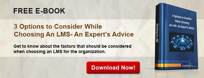 View eBook on 3 Options to Consider While Choosing An LMS - An Expert's Advice