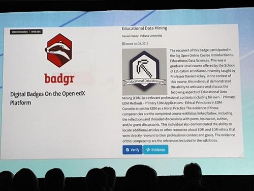 Digital badges on the open edx platform