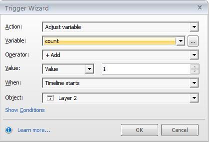 Adjust variable