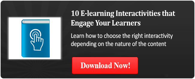 View eBook on 10 E-learning Interactivities that Engage Your Learners