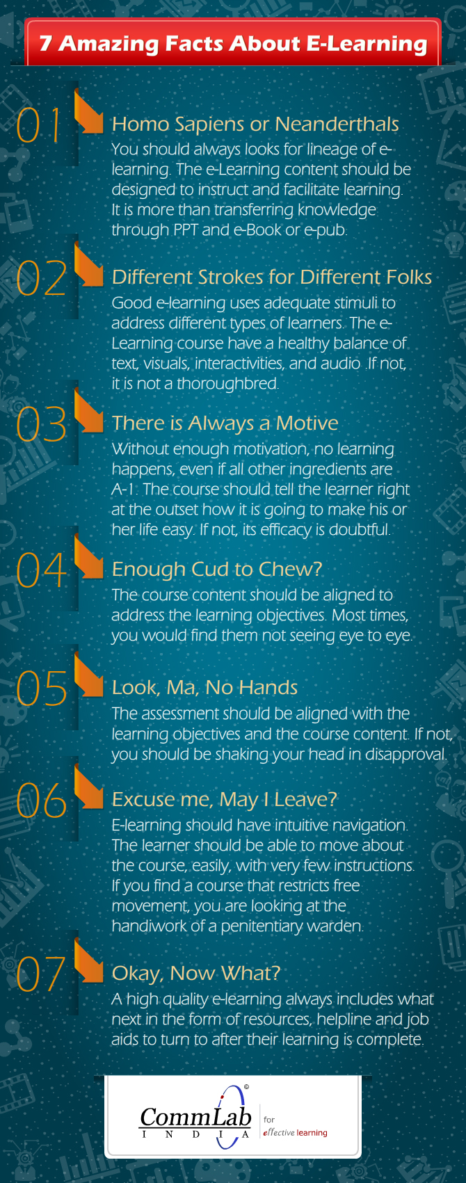 7 Tips to Create a Good E-learning Course [Infographic]