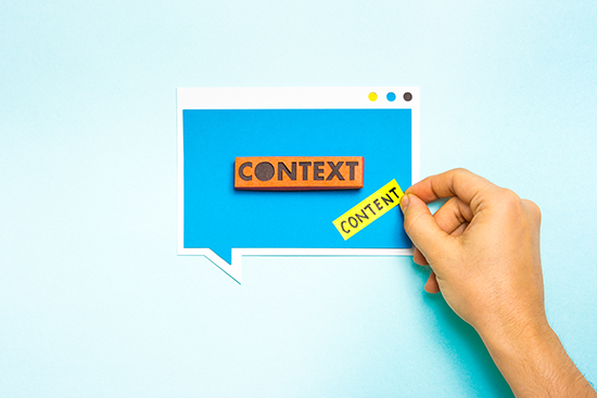 Setting Learning Content in Context