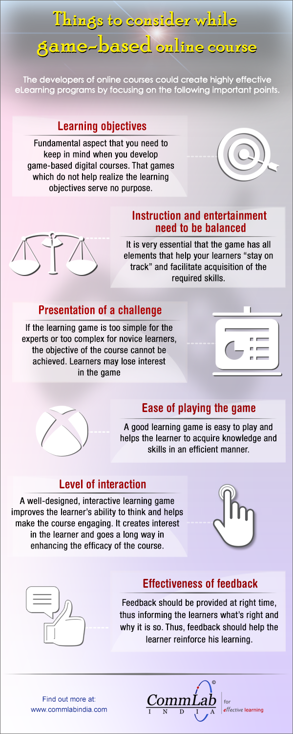Developing a Game-Based E-learning Course: Aspects to Consider [Infographic]