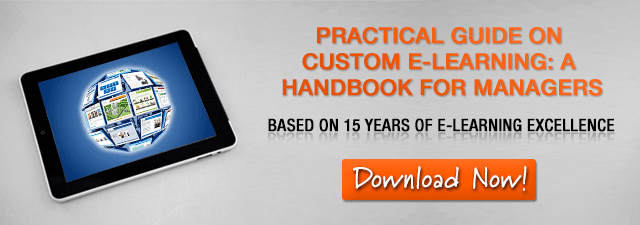 View eBook on The Practical Guide on Custom E-learning
