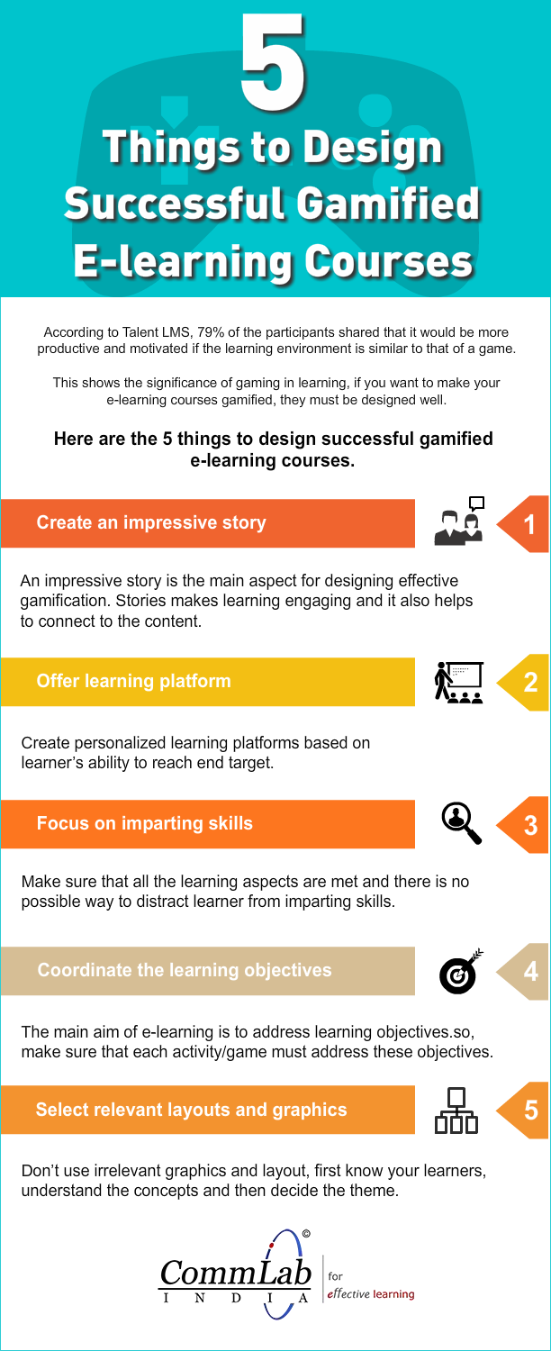5 Tips to Design an Incredible Good Gamified E-learning Course [Infographic]