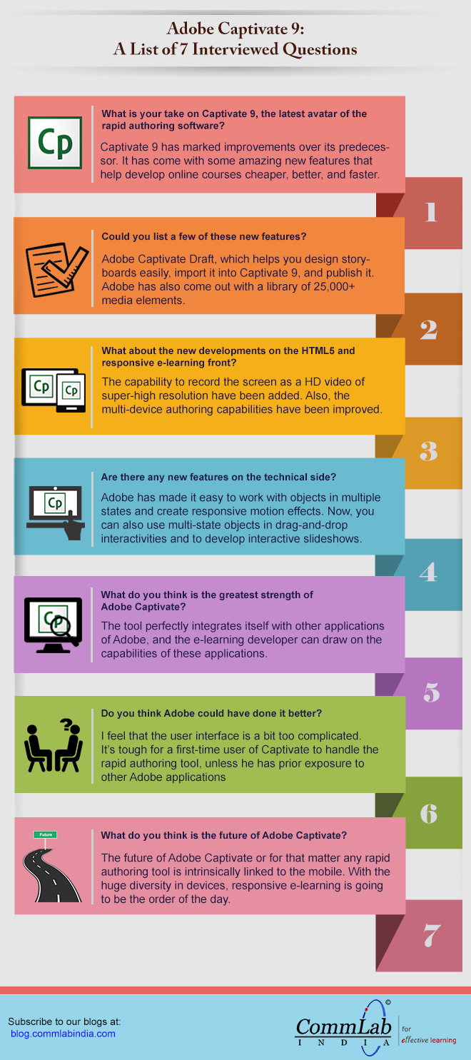 Adobe Captivate 9: Thoughts of the Expert [infographic]