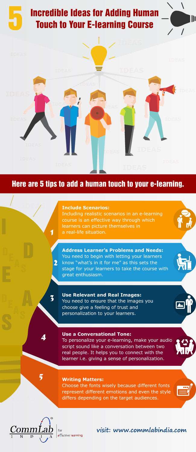 How to Make Up for the Lack of Human Interaction in E-learning [Infographic]