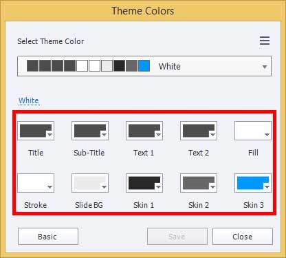 The 'Theme Colors' button