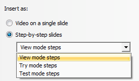 Step by step chunks of recordings