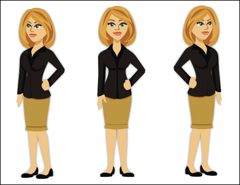 Perspectives of illustrated characters in Articulate Storyline