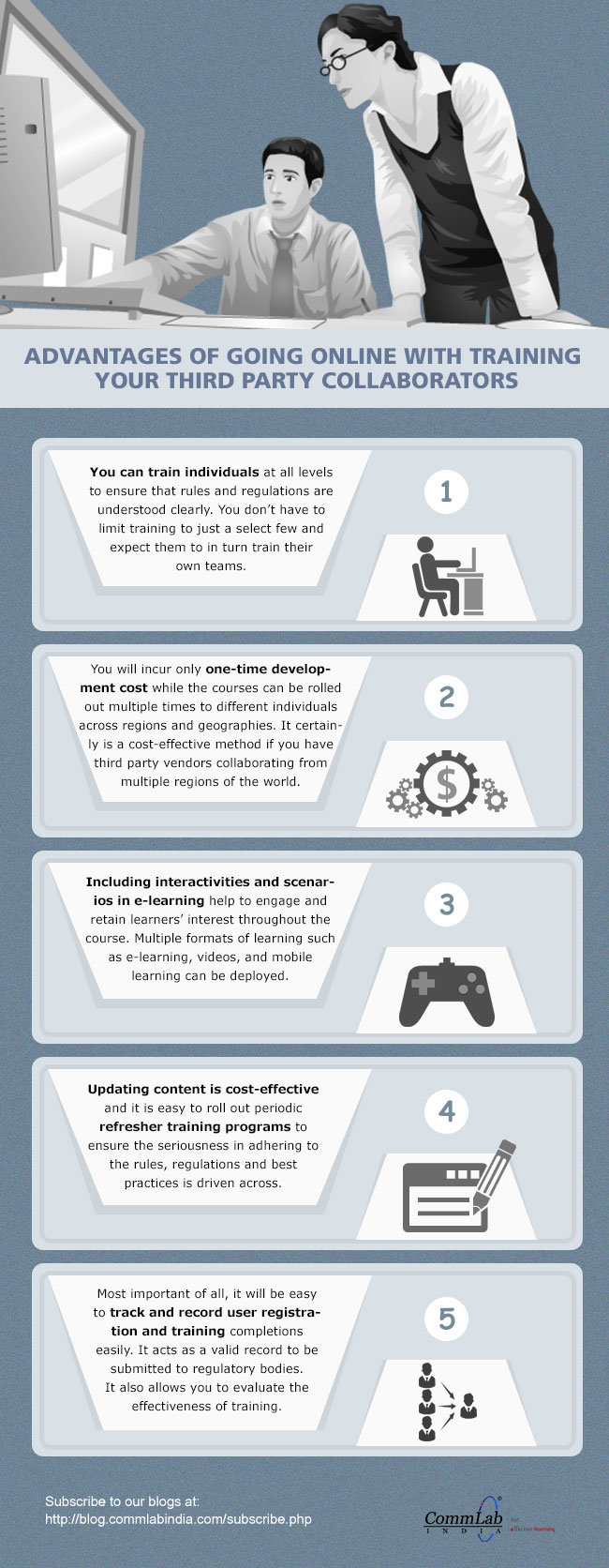 Advantages of Going Online To Train Your Third Party Collaborators [Infographic]