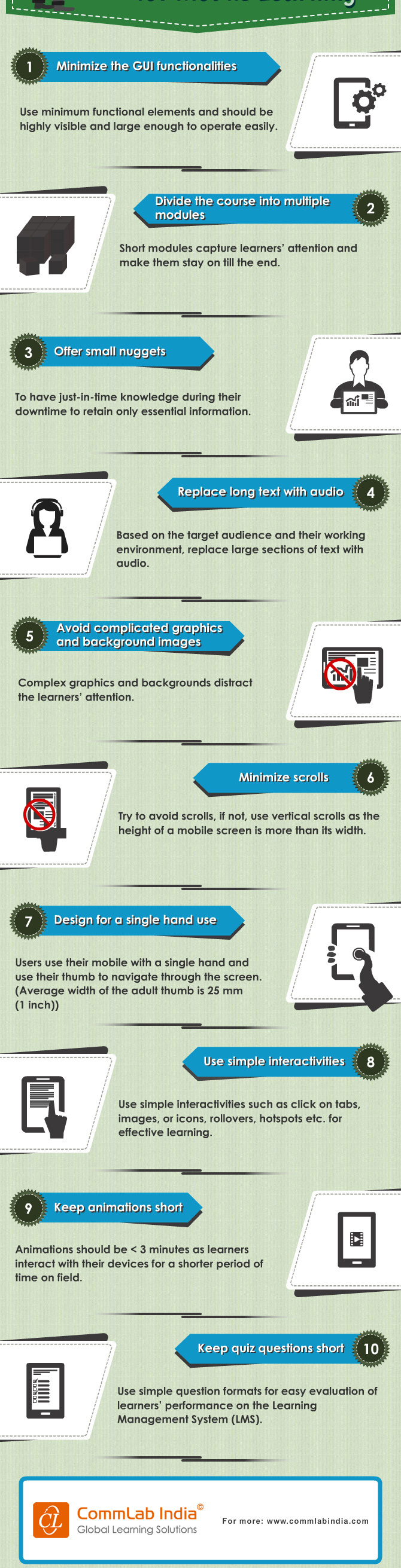 10 Learning Design Tips for Mobile Learning [Infographic]