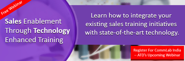 Register for the webinar on Sales Enablement Through Technology- Enhanced Training