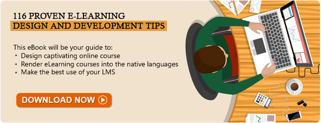 View E-book on 116 Proven E-learning Design and Development Tips