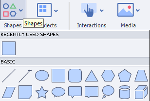 Click on Smart Shapes
