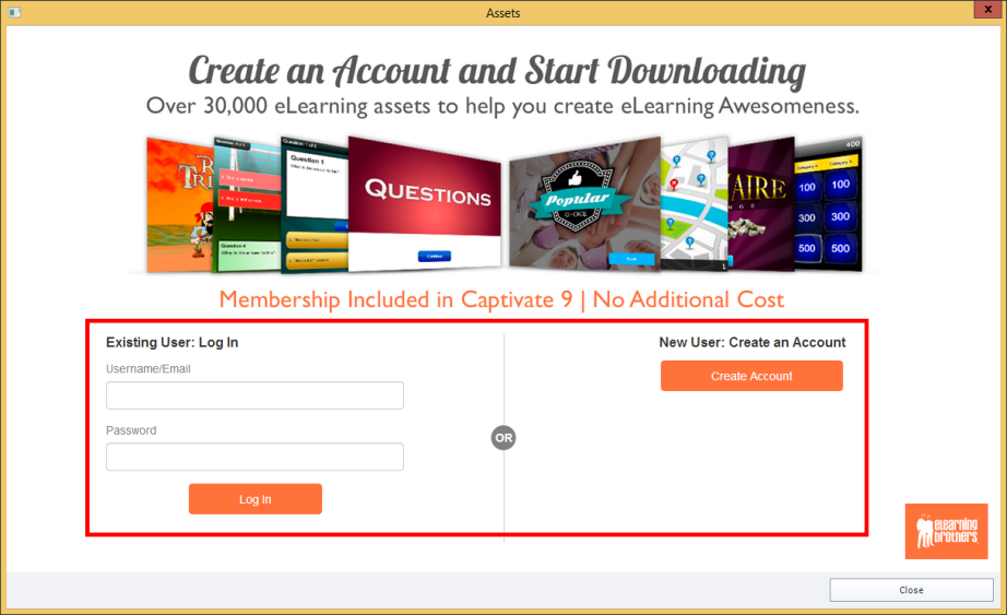 Assets login page